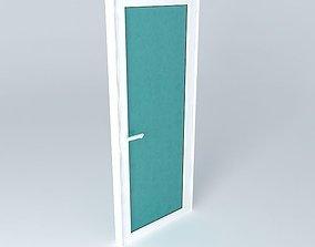 3D model Aluminium door
