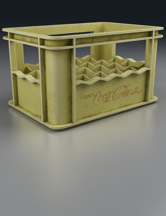 Old Beverage Crate Render