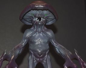 dungeon 3D printable model Myconid - Fantasy Miniature