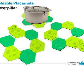 Caterpillar placemat-Foldable 3D
