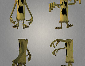 3D asset TreeMonster Low Poly Character MAX 2011