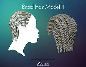 Braid Hairstyle 01 3D print model