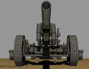 German 15 cm sFH Field Howitzer 3D