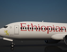 Ethiopian Airlines 737 MAX 8 3D model