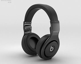 3D Beats Pro Over-Ear Headphones Black