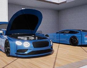3D model low-poly Generic Sports GT 2 Door Coupe