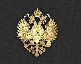 3D print model Coat of arms of the Russian