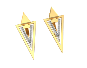 Triangular earrings 3D print model