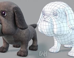 3D asset Dog base cartoonV06
