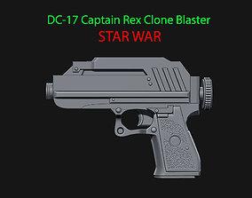 DC-17 Captain Rex Clone Blaster for 3D print model 3