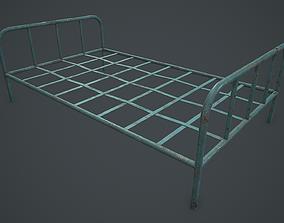 Old Bed Frame PBR VR 3D model