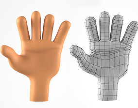 3D model Hand for Cartoon Character - 2