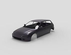 3D printable model 91 Honda civic RC body shell
