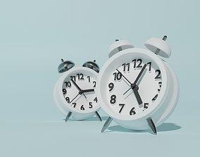 low-poly Alarm Clock 3D model