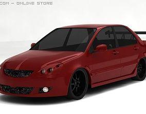 3D model car Mitsubishi Lancer IX