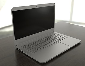 Generic aluminum laptop 3D