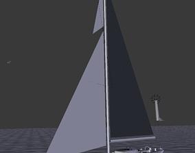 sailboat Sailing Yacht 3D