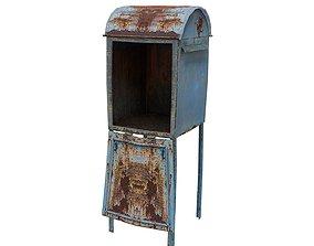 3D asset Post Box 01 01 F