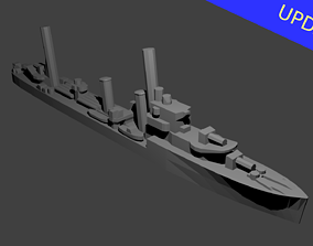 3D print model British G Class Destroyer Warship