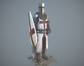 3D model Templar Knight Low Poly