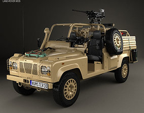 3D model Land Rover Defender RWMIK with HQ interior 2014