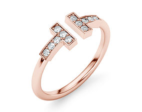 Wire Diamond Ring 3D printable model