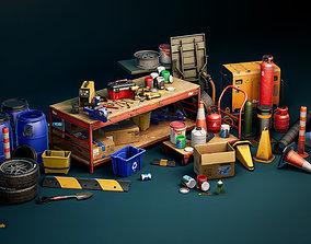 3D model UE4 Realistic Garage Tools