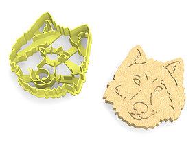Husky Dog Cookie Cutter 3D print model
