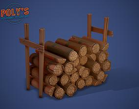 3D asset Logs Stylized - Low Poly