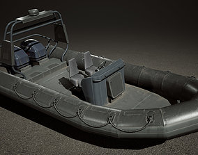 UE4 Military Boat - Rigged and Blueprint 3D asset 2