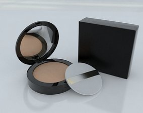 3D model Cosmetic Foundation Powder with Cushion Puff and