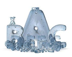 Ice Roman Alphabet 3D model