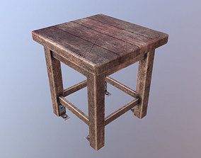 Old bloody stool 3D asset