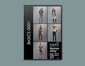 Set of 3D people using their phone Basics0001