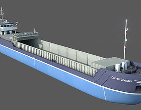 General Cargo Ship DAMEN COMBI COASTER open bay 3D model