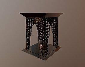 3D asset VR / AR ready Ancient Oriental Lamp Lantern