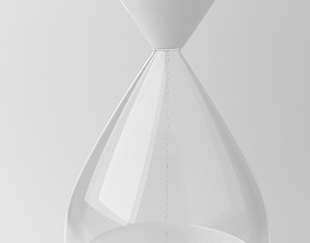 Hour Glass Decoration 3D Model