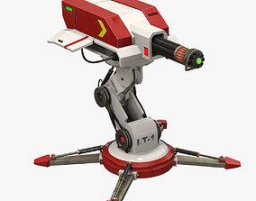 3D model Sci-fi laser turret