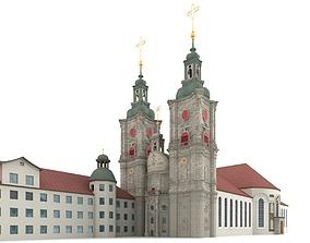 3D Abbey of St Gallen Switzerland