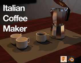 3D model Italian Coffee maker food