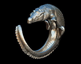 Cocodrile ring 3D print model