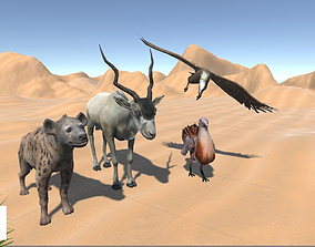 3D asset African animals - pack