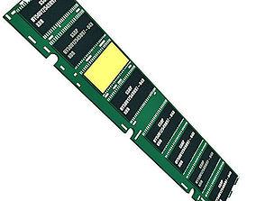 Realistic Computer RAM 3D model