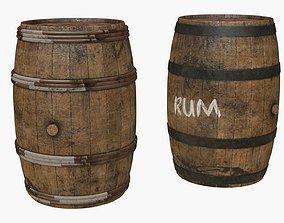 3D model Wooden Barrels Assets 5