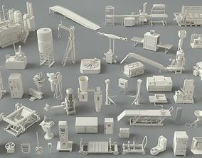 Factory Units-part-3 - 49 pieces 3D