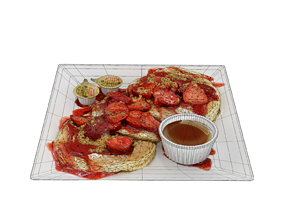 Strawberry shortcake Pancakes 3D asset