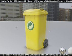 Yellow Bin 120L Low-Poly-Version Not Rigged 3D model