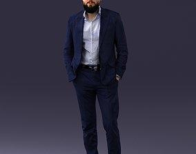 3D model Man in suit 0421-2