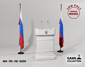 3D model Russian Presidential Podium