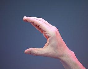 Finger Alphabet C 3D asset